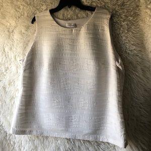 Calvin Klein - sleeveless white top - size XL